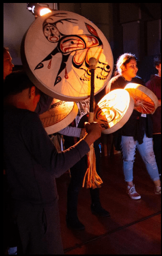 Native Voices Arts Academy Drumming