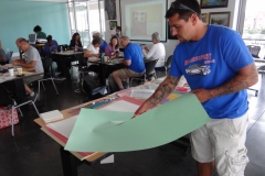 teachers creating visual arts