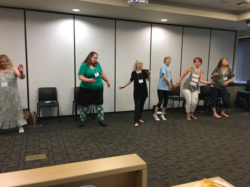 teacher from Summer Conference 2017 creating dance