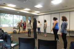 teacher from Summer Conference 2017 creating theater